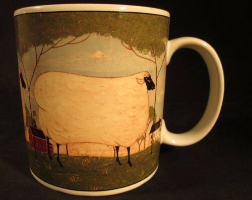 "2000 Warren Kimble SHEEP ""Animal Collection"" Coffee Mug by SUKURA, NY 12oz"