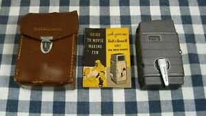 Collector Quality Vintage Bell & Howell  220 8mm Movie Camera + Case and Manual