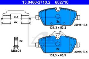 Ate Bremsbelagsatz VA BMW 1er E81//E87//E88 MINI R55//R56//R57-13.0460-2710.2