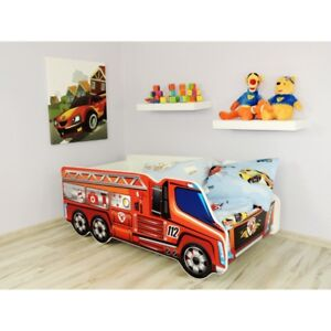 Big-Truck-Bed-Children-Boys-Girls-Bed-with-MATTRESS-140x70cm-FREE-GIFT
