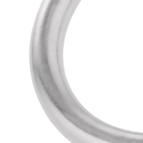 10x Stainless Steel Seamless Welding O Rings Round Metal Loop 30mm+25mm Dia.
