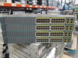 Lot-of-4-Cisco-WS-C2960-24PC-S-Switch-10-100-PoE-2-T-SFP-LAN-Lite