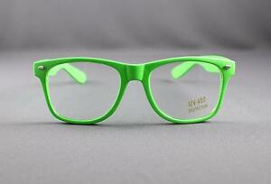 1edd993e580 Green clear lens risky business sunglasses 80s retro style glasses ...