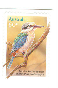 Australia-Kingfisher-self-adhesive-mnh-3509-birds