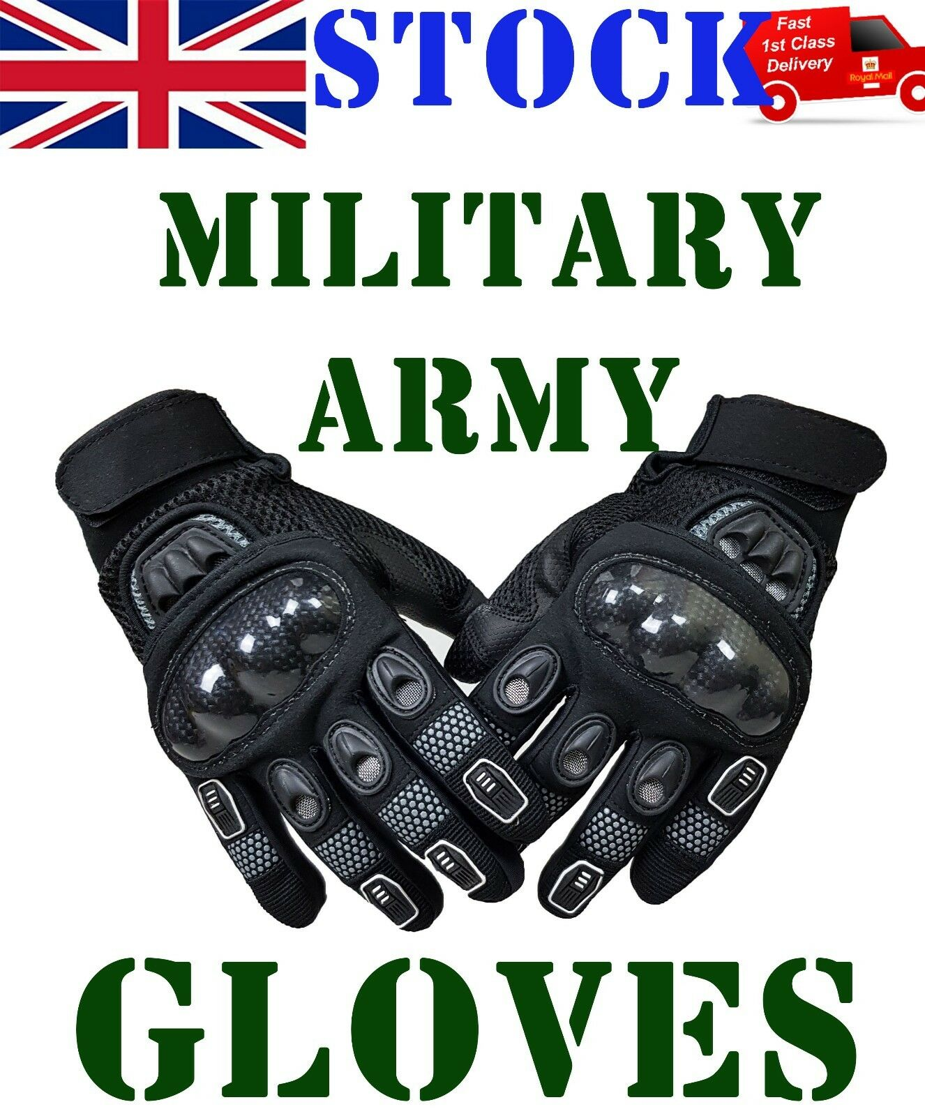 Men Military Tactical Combat Gloves Hard Knuckle Protection Army Security *NEW!*