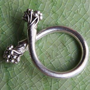 Flower Ring Pure Silver Karen Hilltribe Size.US=9,UK=R