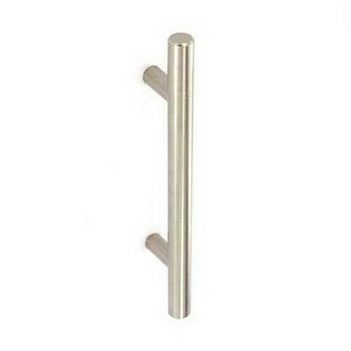 Securit S3722 22mm Bar Handle Stainless Steel / Brushed Nickel 128mm Centres