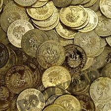 VENI VIDI VICI Toy Plastic Money Gold Coins 144 count bag Pirates Loot RM1245