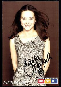 Agata Malach Guten Abend Rtl Autogrammkarte Original Signiert Bc