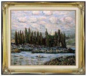 Framed-Hand-Painted-Oil-Painting-Repro-Claude-Monet-Vetheuil-Sur-Seine-20x24in