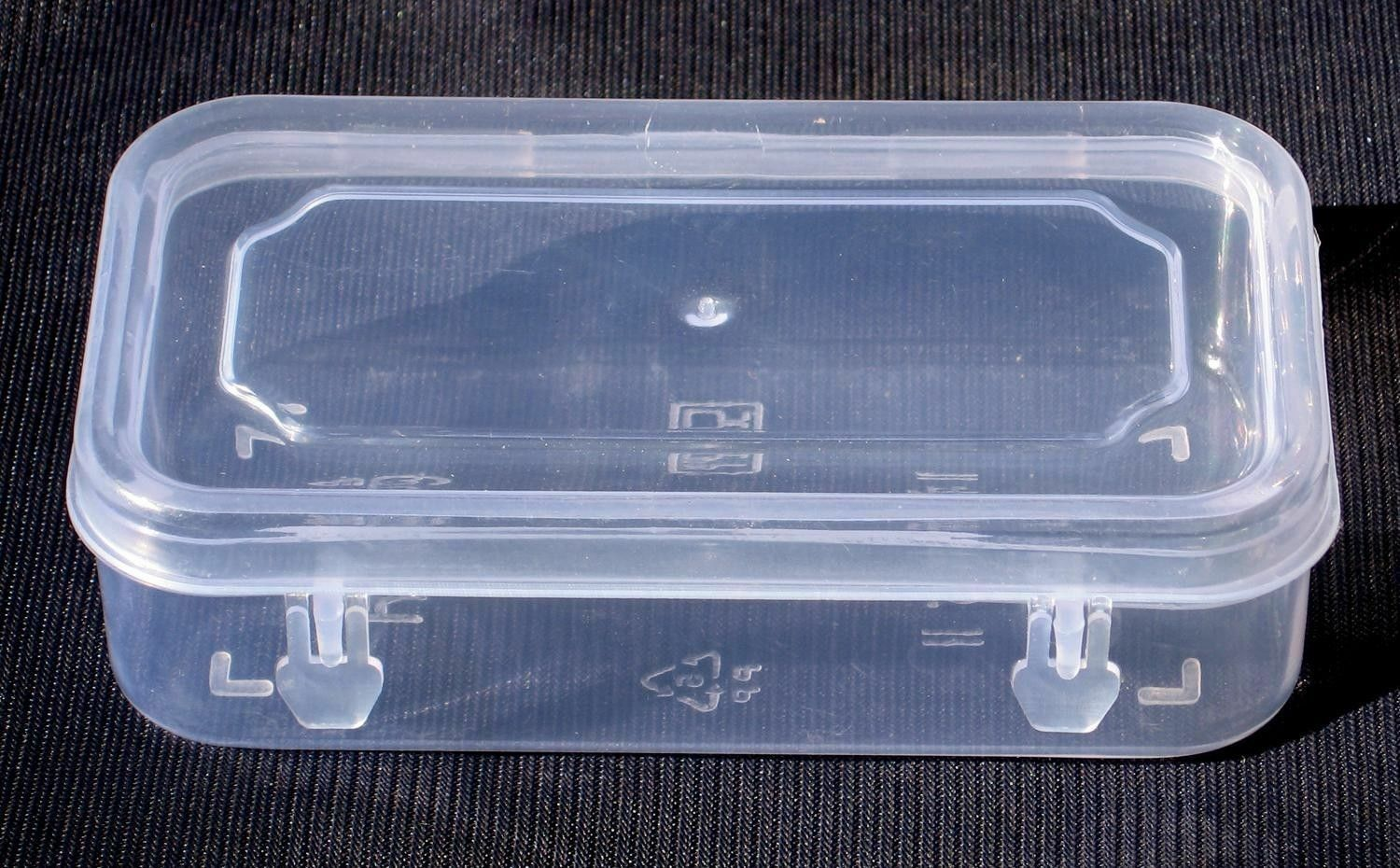 8.5x5 inch Small Plastic Clear Transparent Storage Collection Container Box Case