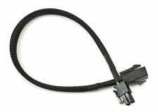 15inch CB-P4-P4 P4 ATX 4Pin to 4Pin Extension Cable, Black Sleeved