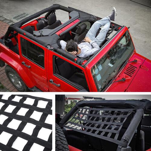 Car Multifunction Roof Hammock Net Cargo Storage Grid For Jeep Wrangler TJ JK JL