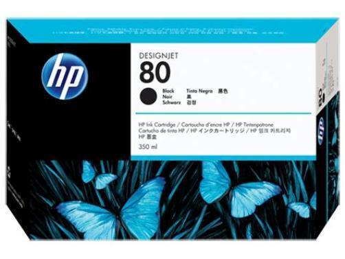 GENUINE & BOXED NOV 2020 HP80 BLACK / C4871A INK CARTRIDGE - SWIFTLY POSTED