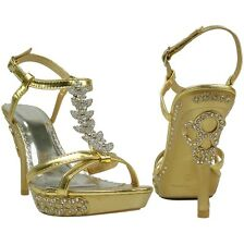 5a98ad6bcb3 item 3 Womens  Gold Sexy High Heel Dress Platform Sandals T-Strap  Rhinestones Sz 5-10 -Womens  Gold Sexy High Heel Dress Platform Sandals T- Strap ...