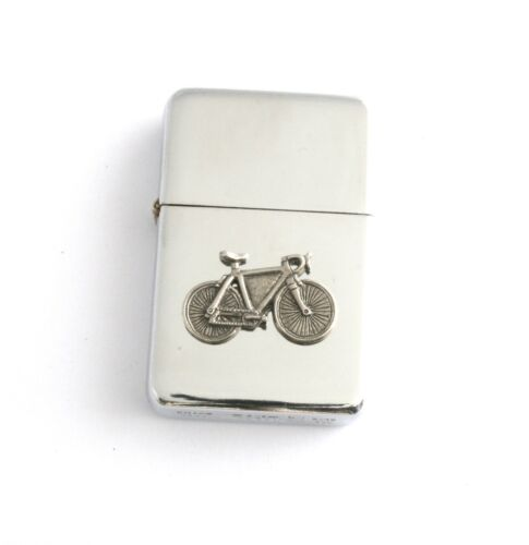 Racing Bike Windproof Petrol Lighter FREE ENGRAVING Personalised Cycling Gift