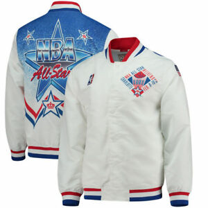 Mitchell   Ness White 1991 NBA All-Star Game Authentic warm up ... b9e172209
