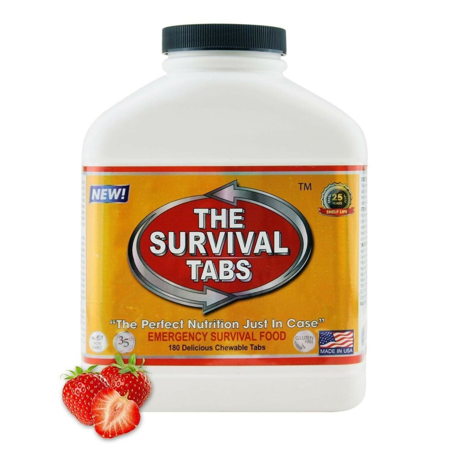 EmergencyHurricane  MRE Bugout Food survival tabs 180 15 day Strawberry Flavor  buy discounts