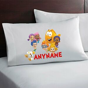 Bubble Guppies Custom Personalized Pillow Case Custom Made