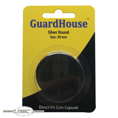 1 Guardhouse Large Direct-Fit Coin Capsule for 1-Oz Silver Round