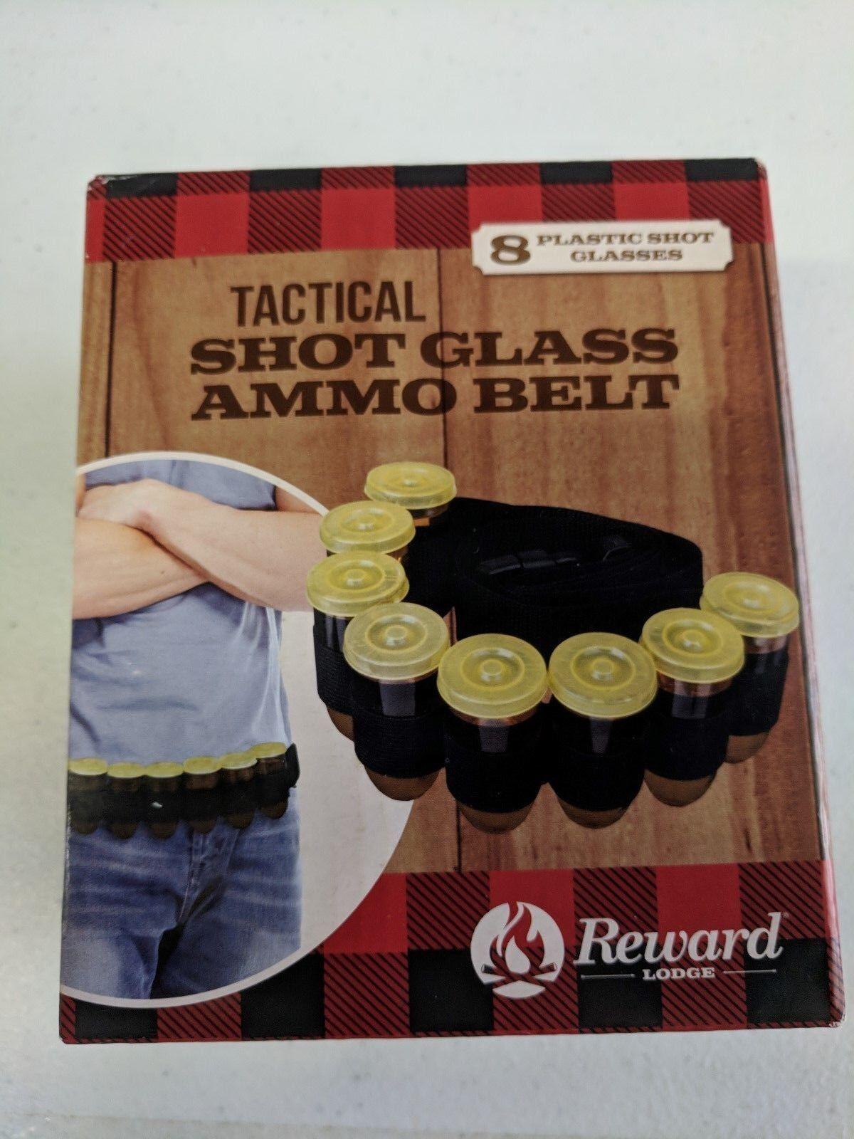 Reward Lodge Lodge Lodge Tactical Shot Glass Ammo Belt NEW gm1317 7a7014