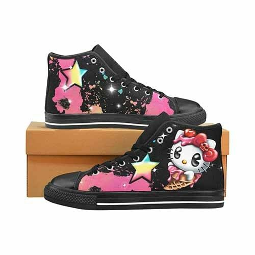 Hello Kitty Uomo's Classic High Top Canvas Shoes