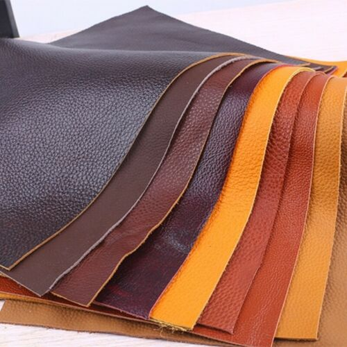 First Layer Hide Cut Real Genuine Leather Fabric Scrap Lychee Pattern Craft