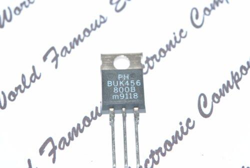 PHILIPS BUK456-800B 800V 4A 125W PowerMOS Transistor 2pcs TO-220 Genuine