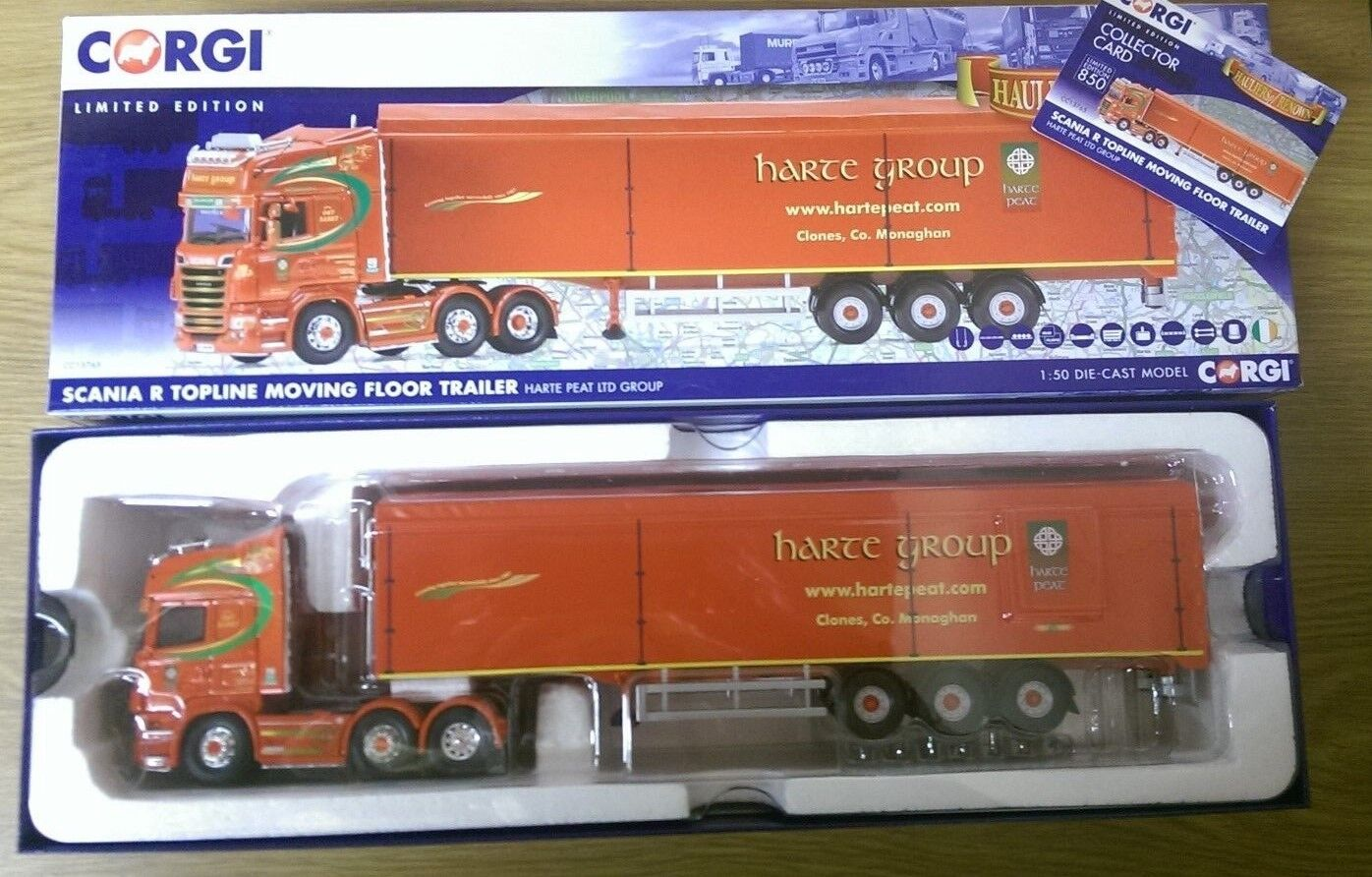 CORGI CC13765 SCANIA R TOPLINE Moving Floor Trailer Harte Harte Harte Group Ltd Ed. 001/850 | De Grandes Variétés