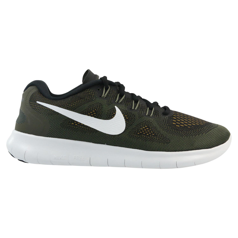Nike Free RN 2017 Schuhe Khaki Laufschuhe Running Sneaker Schwarz Khaki Schuhe 7e2c35