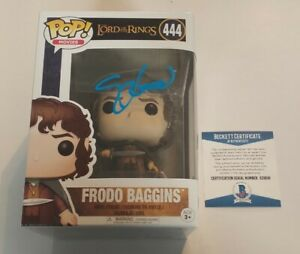 Elijah Wood Lord Of The Rings Frodo Signed Autographed Funko POP #444 BECKETT