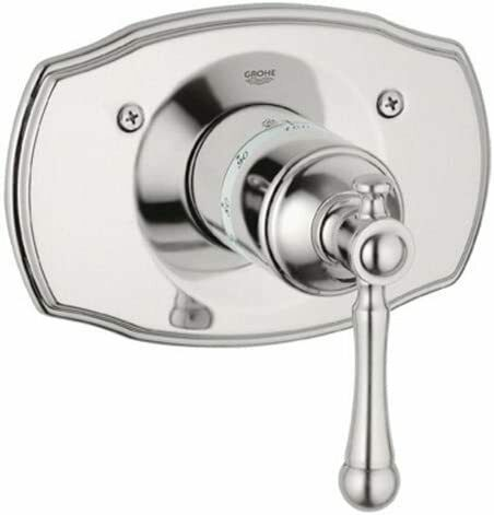 Grohe 19 327 En0 Bridgeford Thermostat Trim With Lever Handle 1 Brushed Nickel For Sale Online
