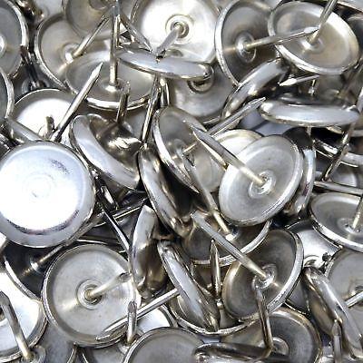 16 x Metallgleiter mit Puffer und NagelØ 20 mmSilberrundMöbelgleiter