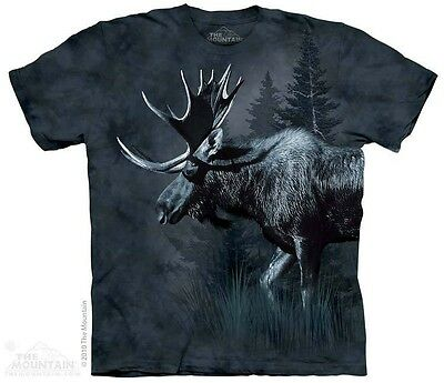 Moose T-Shirt by The Mountain. Forest Animal Antlers Sizes S-5XL NEW