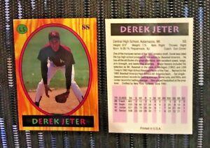 DEREK-JETER-1992-LITTLE-SUN-GLOSSY-ROOKIE-Reprint-GEM-MINT-condition