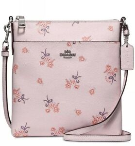 84146fbf New coach Mini Phone Crossbody Ice Pink Floral Bow print bag ...