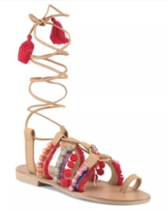Barbara Barbieri Genuine Leder Up Lace Sandales 9.5