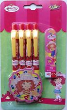 Strawberry Shortcake set of 4 mechanical pencils with pencil cores