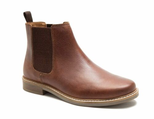 Red Tape Bamford Leather Mens Pull On Fashion Brown Chelsea Boots 7 8 9 10 11 12