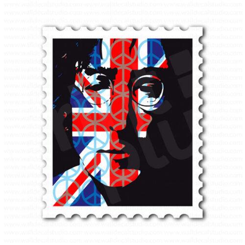 John Lennon England GB Flag Peace Sign Sticker