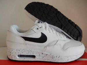 WMNS Nike Air Max 1 ID White black Sz 9.5 Mesh Toe A00864 972