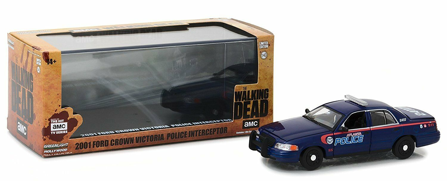 GREENLIGHT 86510 - 1 43 THE WALKING DEAD 2001 FORD CROWN DIECAST CAR