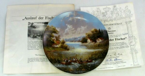 """auslauf Der Fischer"" The Fishermen Collectors Display Plate Coa Ltd Edition Elevato Standard Di Qualità E Igiene"
