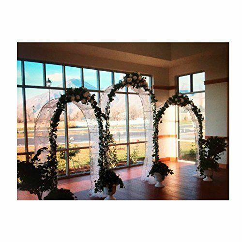 7 5 Ft White Metal Garden Arch Wedding Bridal Prom Party Flower Decor For Online