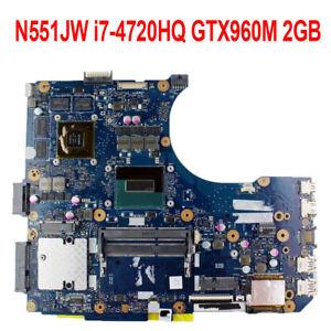 For-ASUS-G551J-G551JW-N551JX-N551JW-N551JK-Motherboard-i7-4720H-CPU-GT960M-2GB