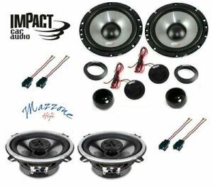 Impact Ef 65S/40X Set 6 Arcas Peugeot 207 Cc Anschluß Altavoces Ant / Pos Coche