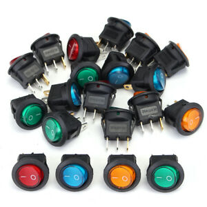 20pz-DC12V-20A-Interruttore-A-Pulsante-ON-OFF-LED-Dot-Per-Auto-Moto-Barca-Boat