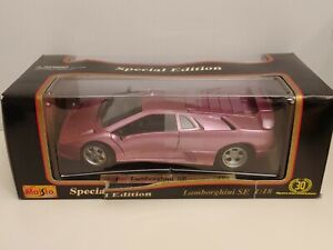 1994-1995-Lamborghini-se-Purpura-1-18-Escala-Maisto-Edicion-Especial-Modelo-de-Coche