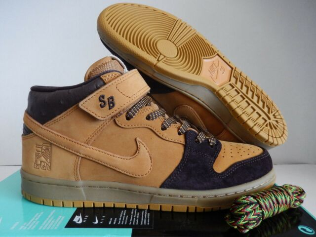 promo code 628ee 2dc0b Nike SB Dunk Mid Pro Size 11.5 Lewis Marnell Wheat Cappuccino Skate  Aj1445-200