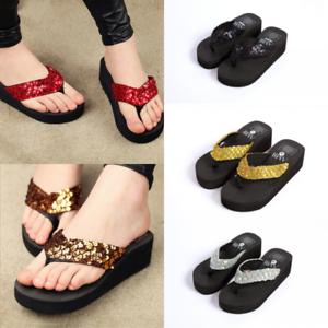 bf135dec660 Image is loading Summer-Soft-Platform-Slippers-Women-Girls-Wedge-Sandals-